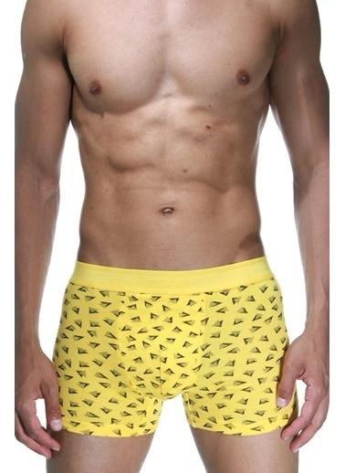 Dark Zone 2'li Likralı Pamuklu Boxer Sarı
